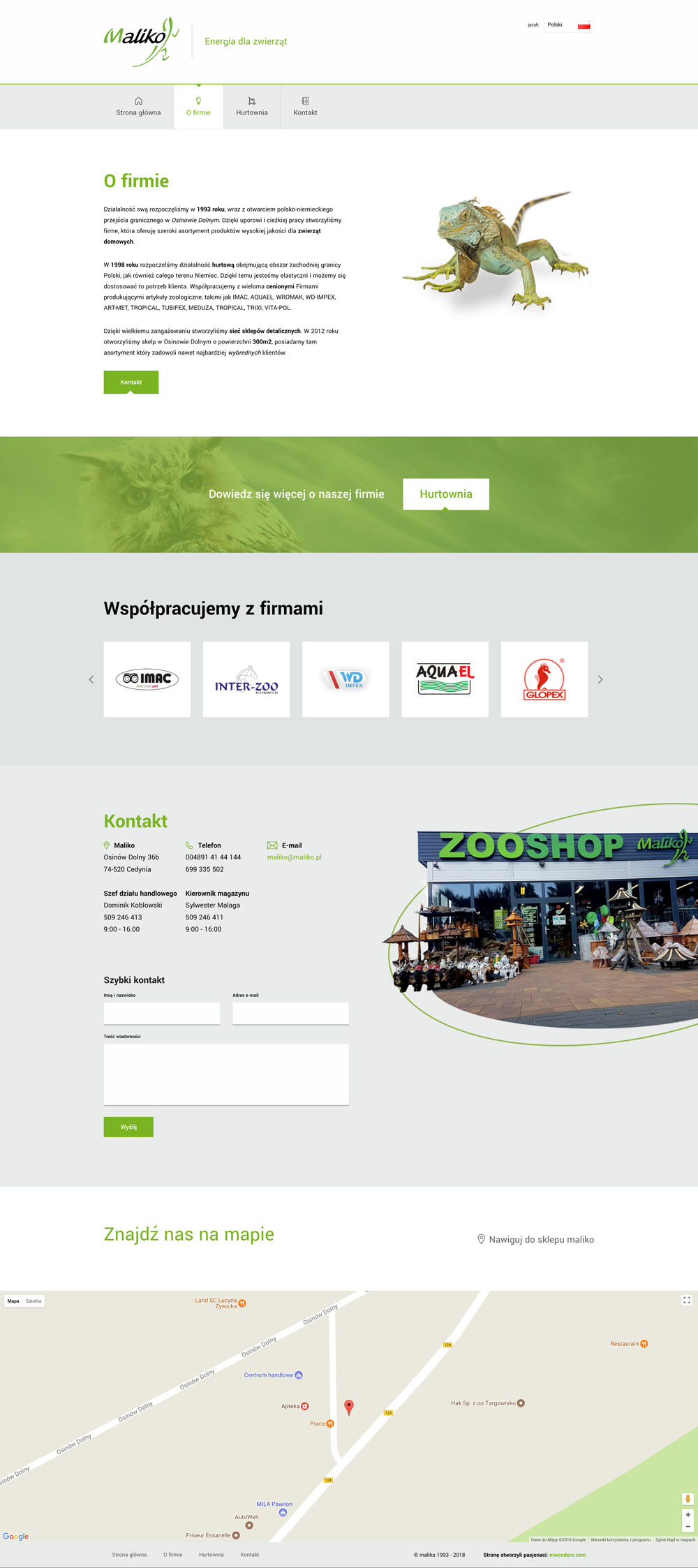 Projekt strony treściowej maliko.pl