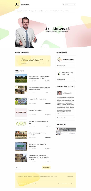 Projekt strony głównej arieljuszczak.pl