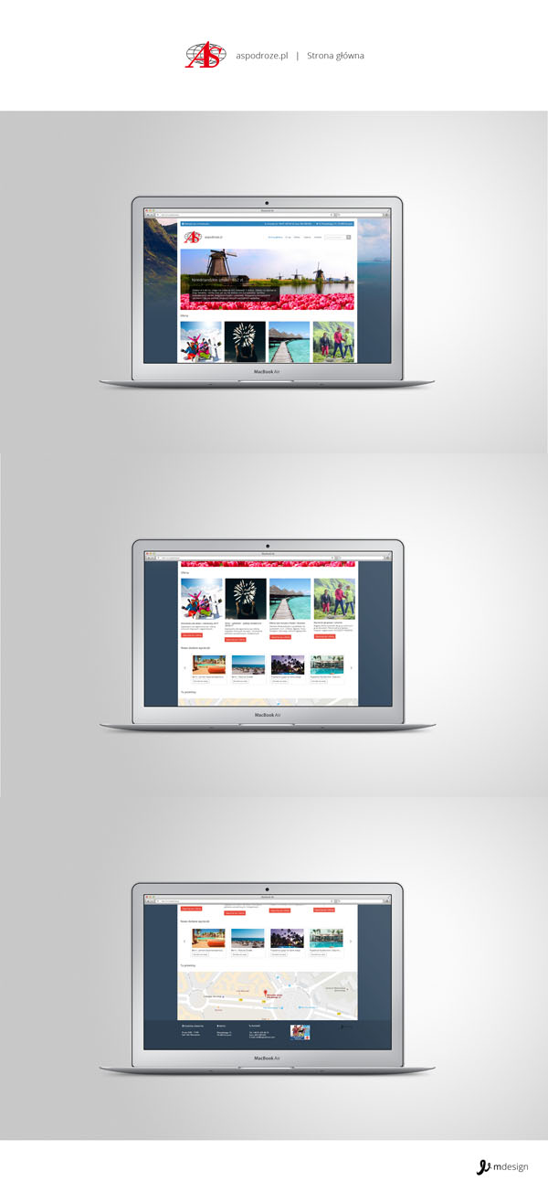 Projekt strony głównej aspodroze.com