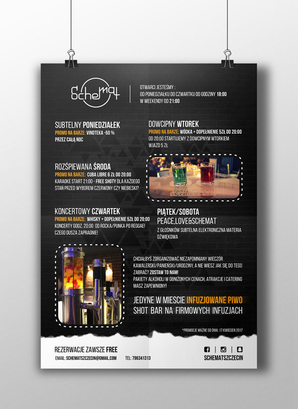 Projekt plakatu dla Schemat Szczecin
