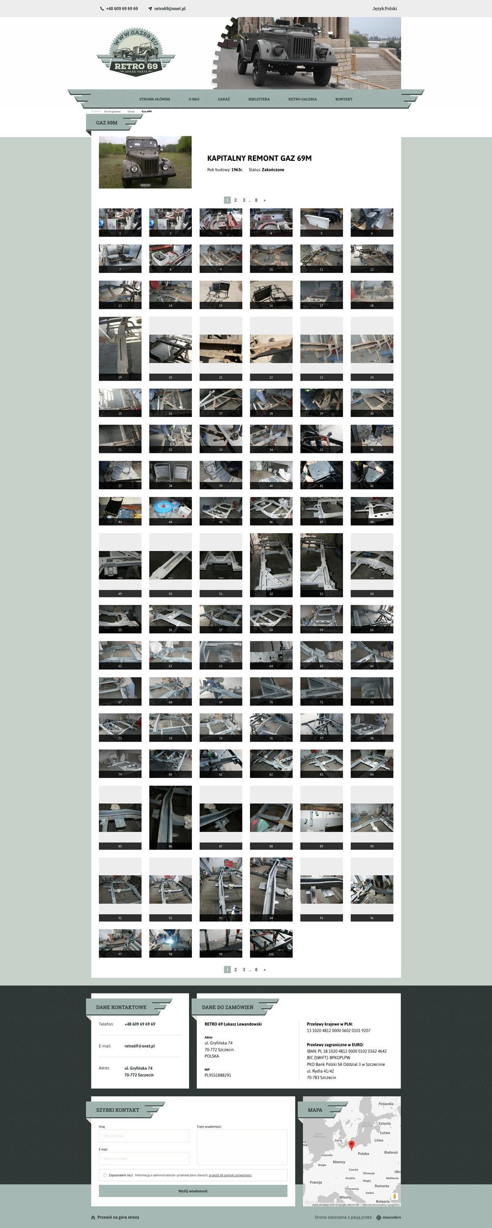 Gaz 69 - projekt strony
