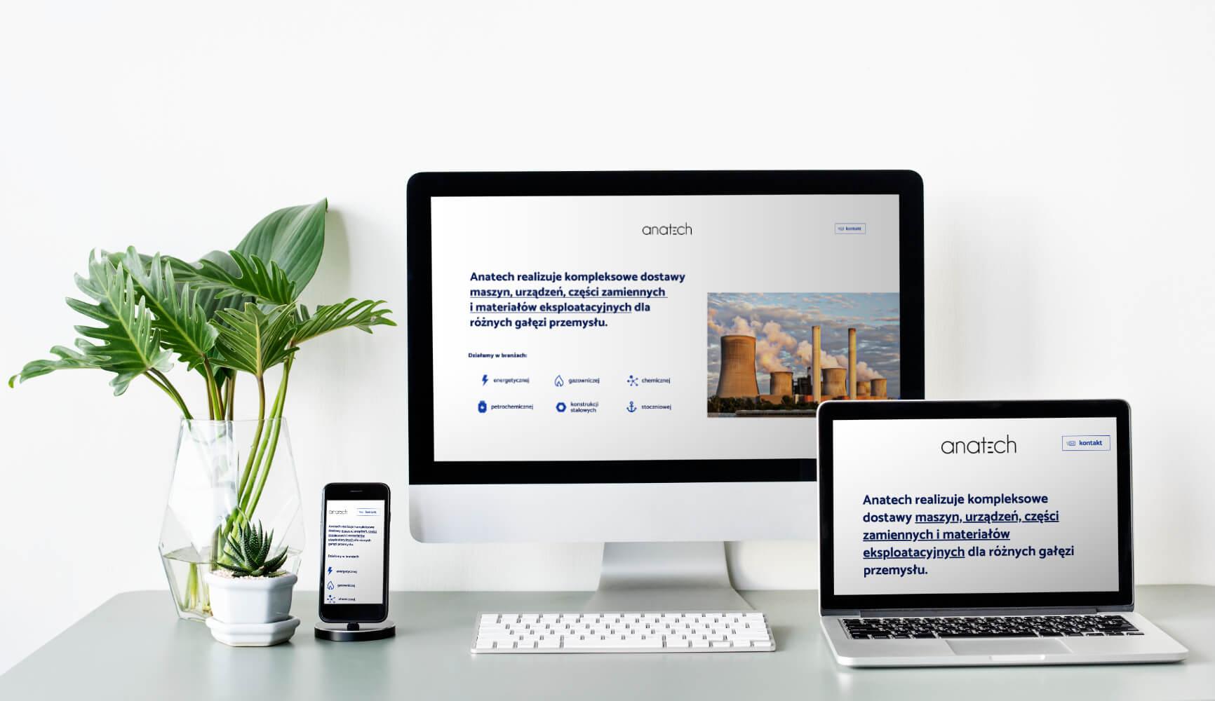 Anatech - projekt strony